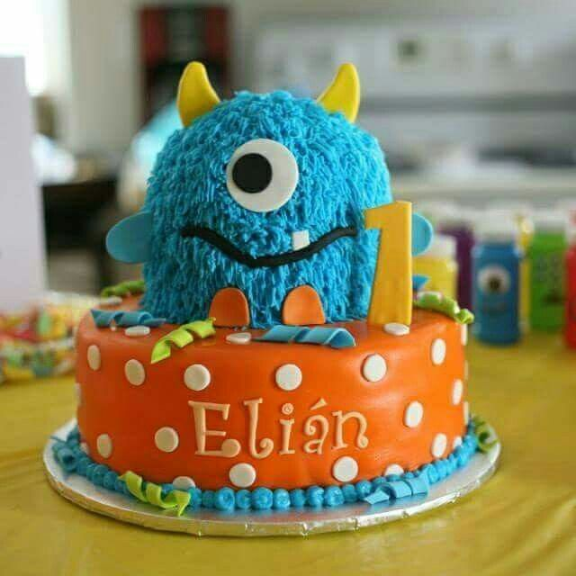 Little Monster Cake Monster Birthday Cakes Little Monster
