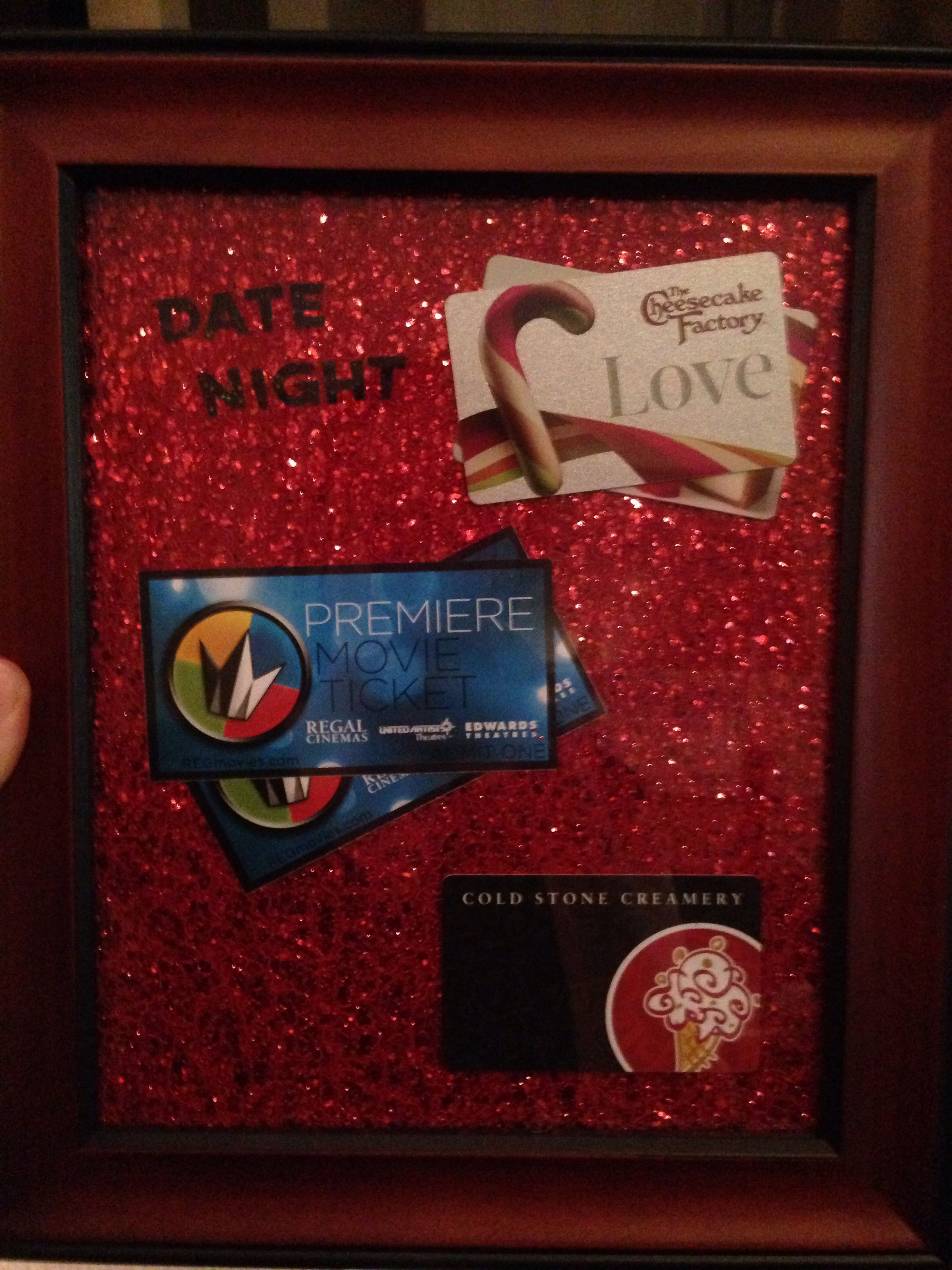 Better way to give gift cards!! Date night present gift