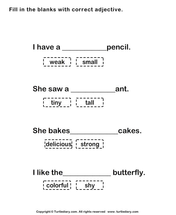 Adjective Worksheets 7th Grade - Delibertad