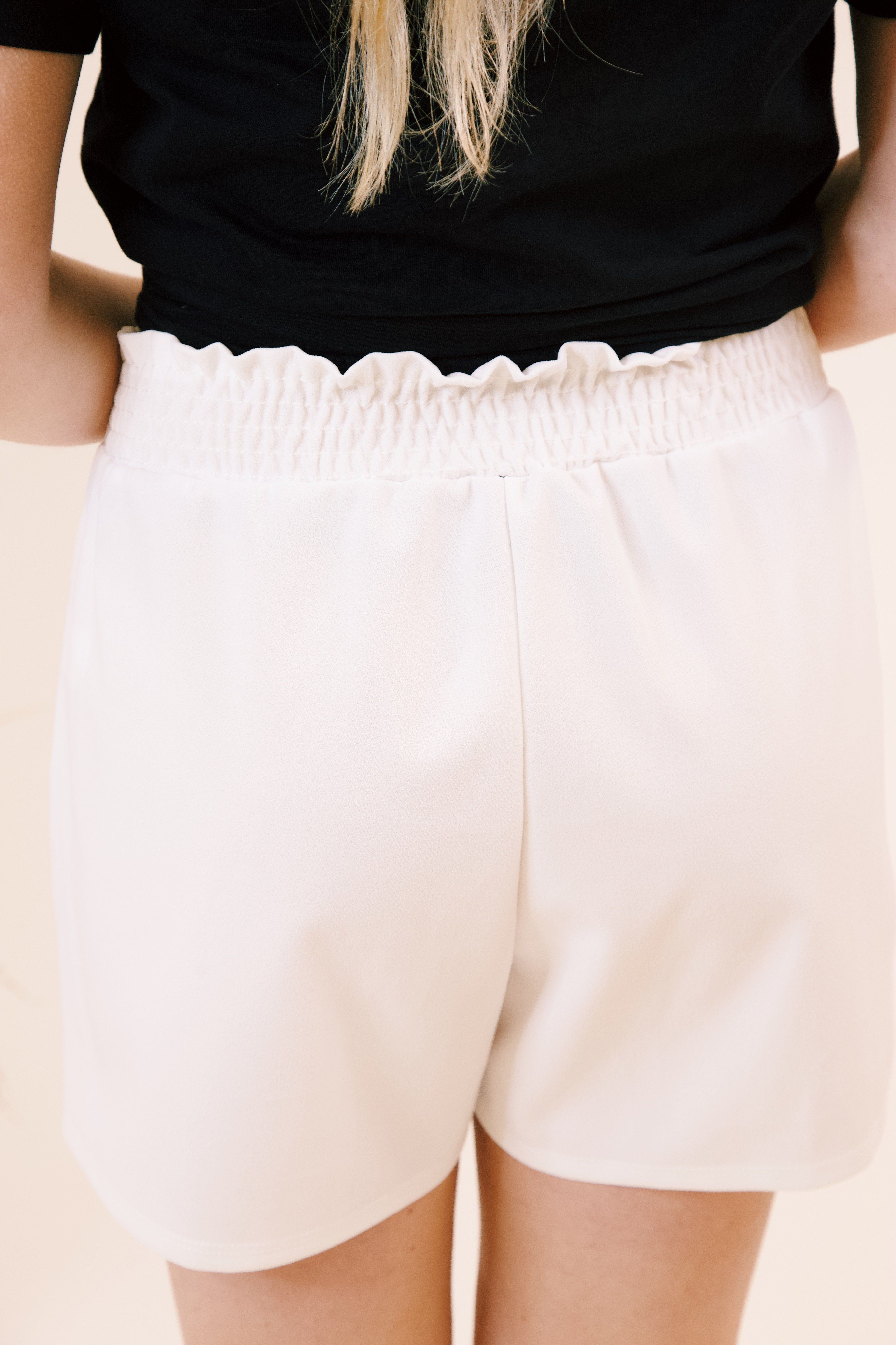 Ophelia Chiffon Shorts, Off White