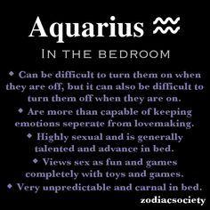 Virgo and aquarius in bed