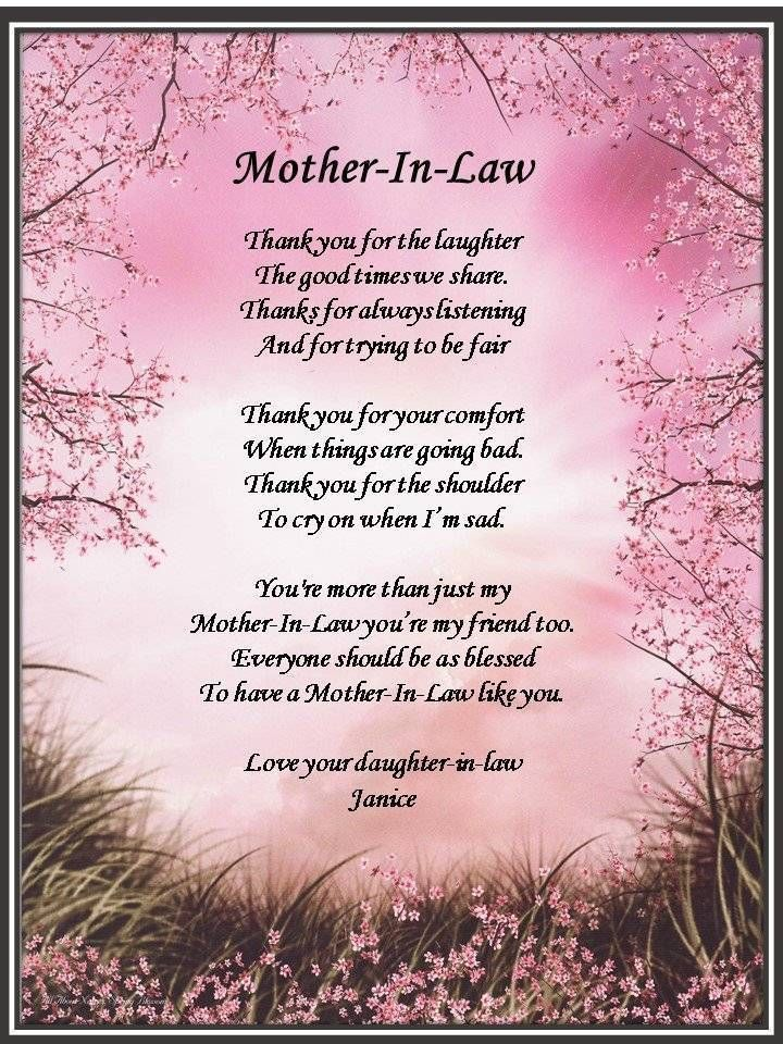gifts for mother in law mothers day Birthday wishes for