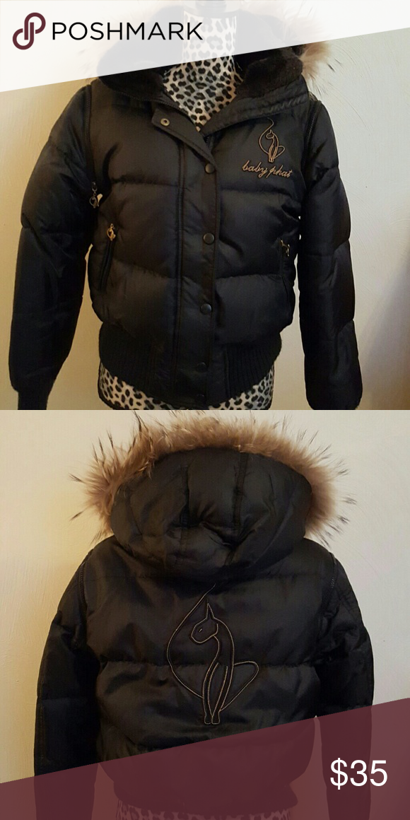9f28590eec5a Baby Phat Puffer Jacket Baby Phat Down Filled Puffer Jacket with ...