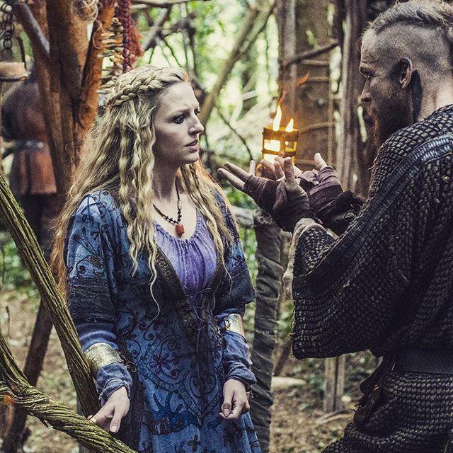 She sees something strange in her husband. #Vikings