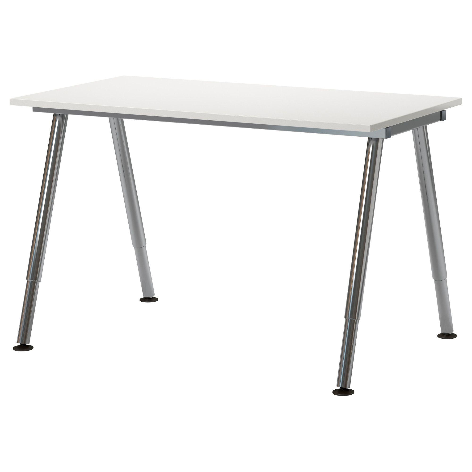 GALANT Desk - white, A-leg, chrome plated - IKEA | New ...
