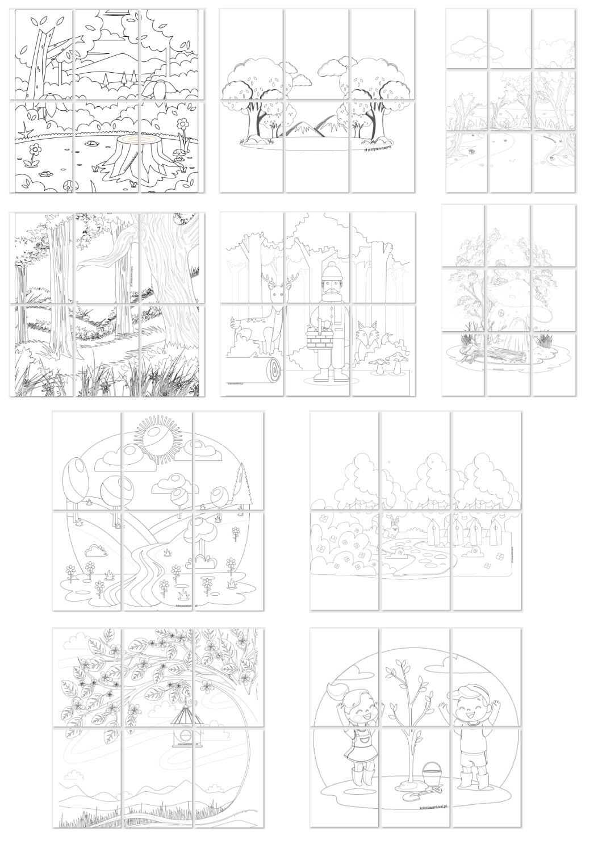 Kolorowanki Xxl Dzien Lasu Drawing Practice Drawings Art