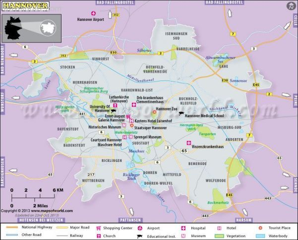 nice Hannover Map Travelquaz Pinterest Hannover Tourist map