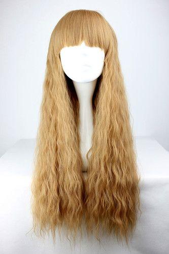 Long brown mori lolita cosplay wig e6fb4ee3f692