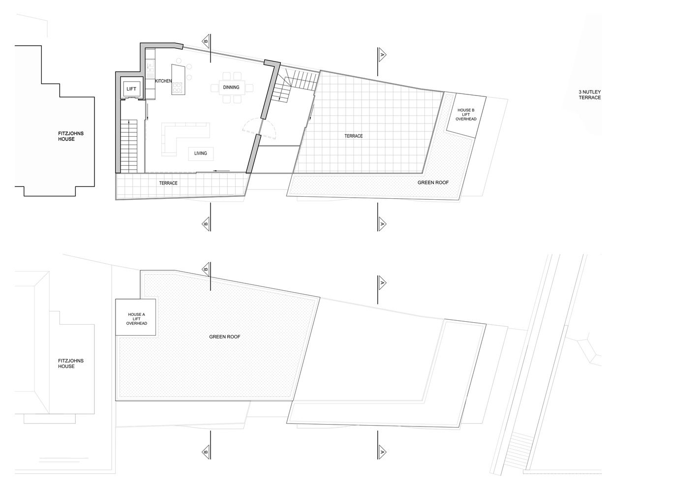 Best Gallery Of Nutley Terrace Belsize Architects 16 Roofing 400 x 300