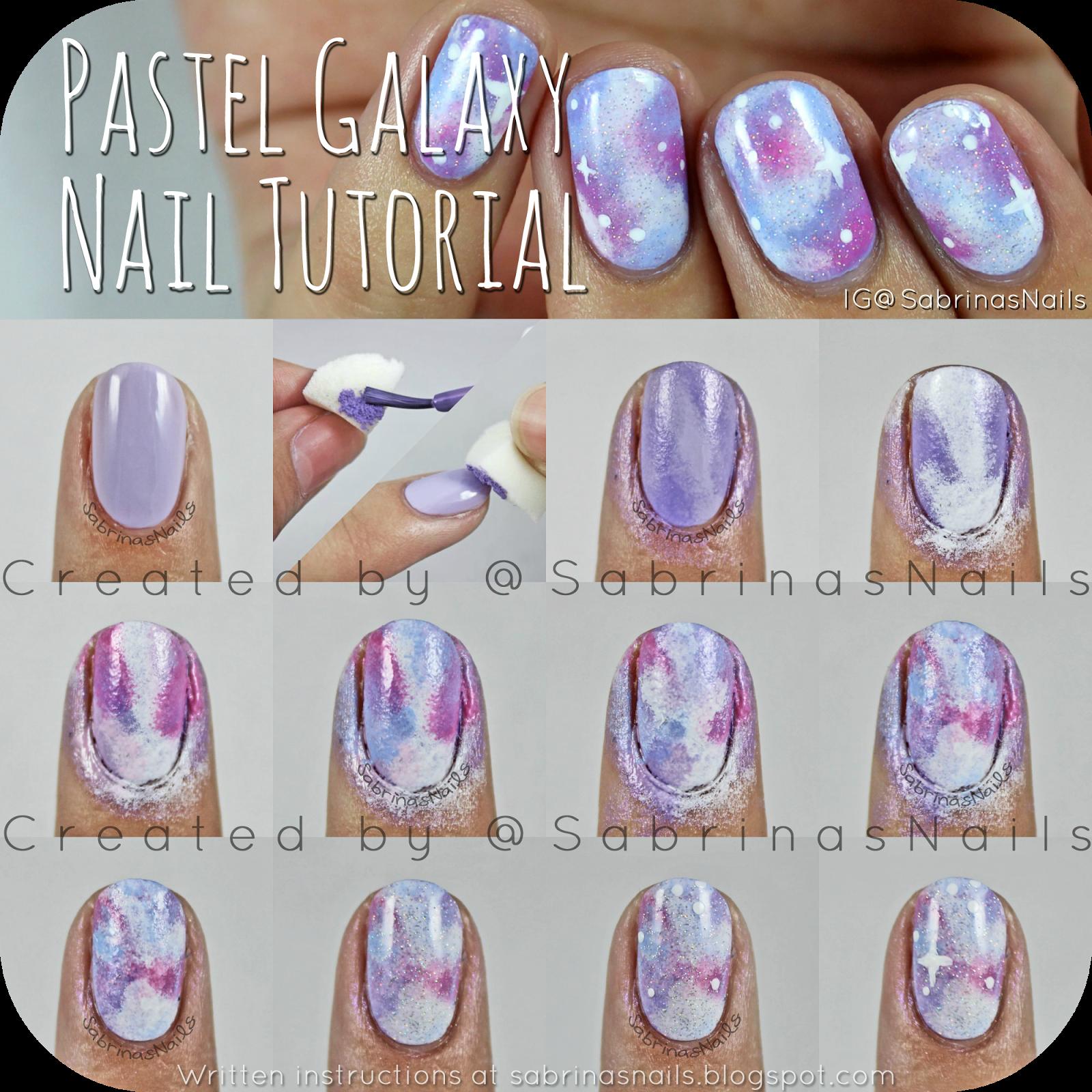 Unicorn Pastel Galaxy Nail Tutorial - Nails | Pinterest - Nagel ...