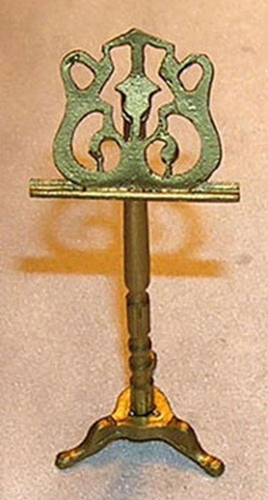 1:12 Scale Dollhouse Miniature Fancy Brass Candle Stick #JLM138
