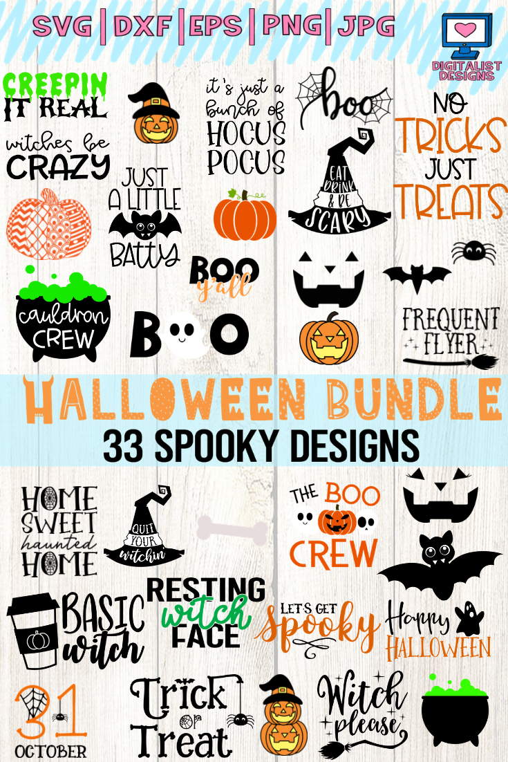Halloween Bundle Svg Fall October Witch Png Dxf
