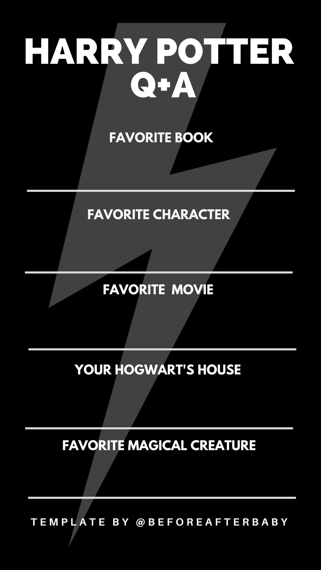 Harry Potter #Instagram Story Template #HarryPotter
