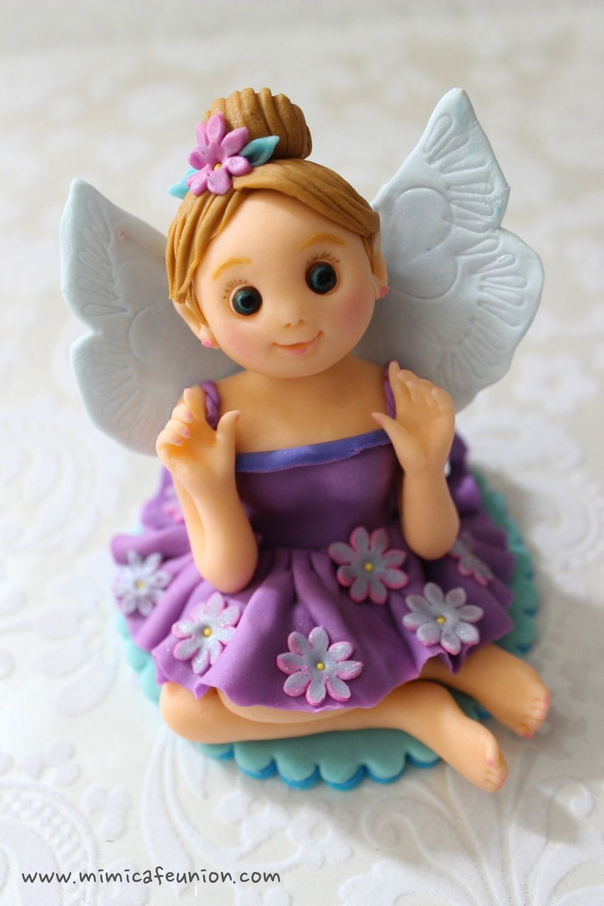 Fondant Doll Cake Topper by mimicafe Union   Fairy cakes ...
