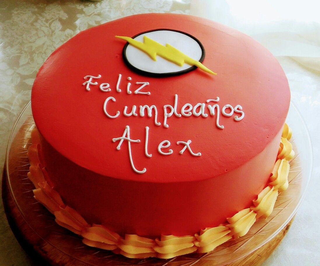 Flash Birthday Cake Decoration Mis Creaciones Pinterest