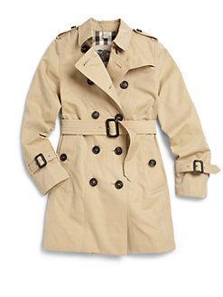 Burberry - Girl's Sandringham Trenchcoat