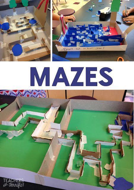 It S All Ah Mazing Mazes Stem Challenges Teachers Are Terrific Stem Challenges Stem Engineering Stem Classes