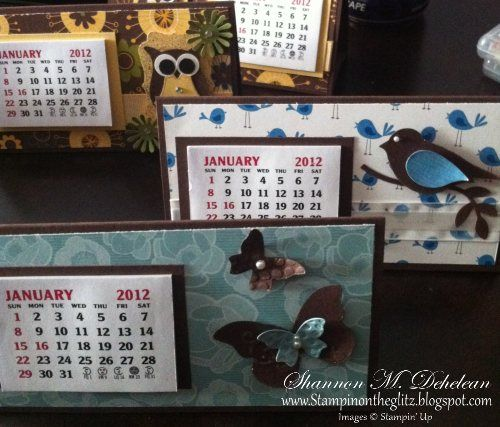Calendar Art Fairs : Mini calendars my stampin up creations
