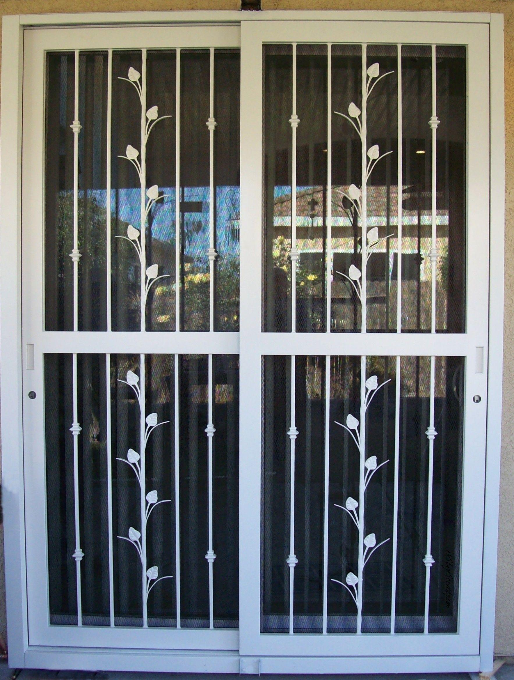 White Sliding Security Screen Doors | http://thefallguyediting.com ...
