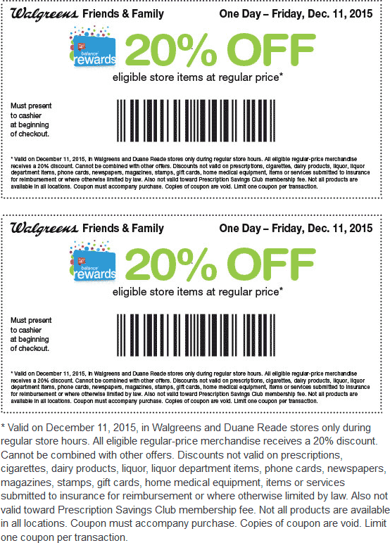 pinned december 11th 20 off today at walgreens duane reade or online via promo code snow20 coupon via the coupons app