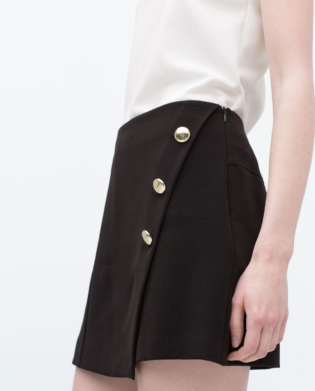 b527186ed Imagen 3 de FALDA PANTALÓN BOTONES de Zara | Outfit | Faldas ...