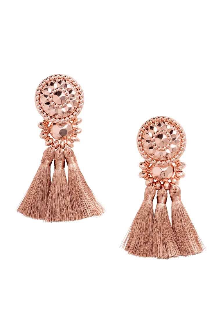 más fotos dc19b 4e628 Pendientes con borlas | Aretes | Tassel earrings, Earrings ...