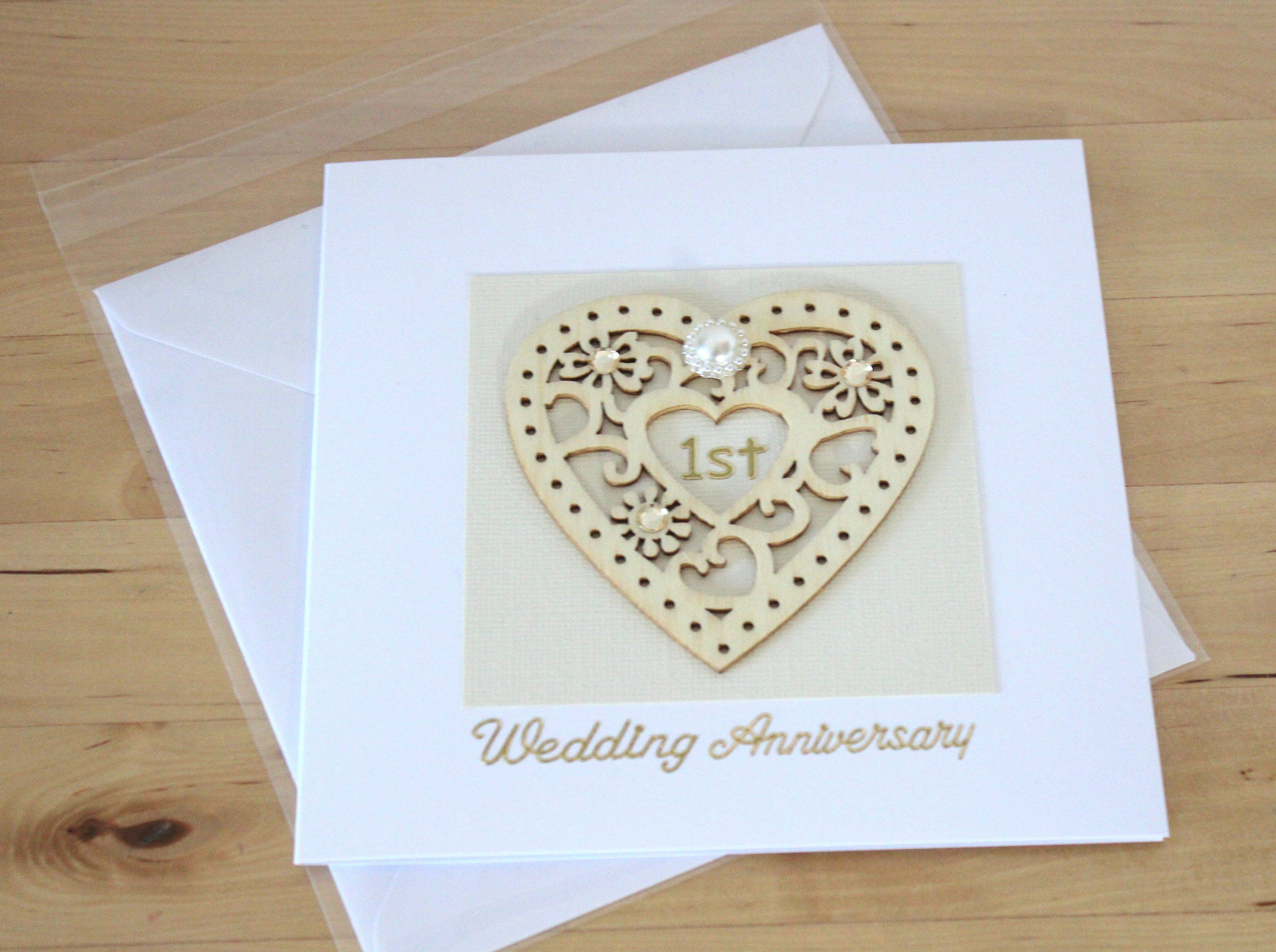 First Wedding Anniversary card gift for husband wife