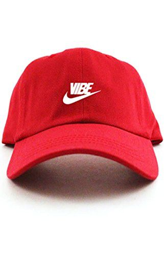 8cc4b92e Just Vibe Swoosh Red w/ White Dad Hat CUSTOM | ❂Hats/Beanies or ...
