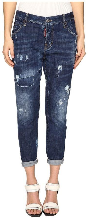 DSQUARED2 Cool Girl Jeans Skin Biker Pants Five-Pockets in Blue ... 7c75ea3f2de4