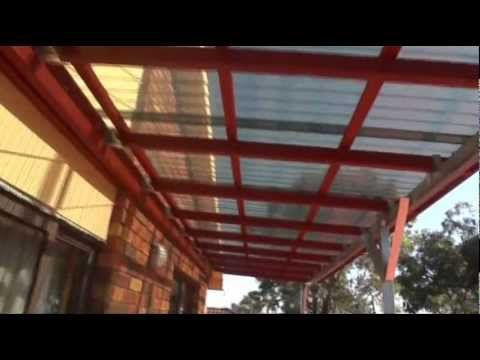 My Awning Or Roof Over My Top Floor Balcony From Start To Finish Youtube Corrugated Plastic Roofing Plastic Roofing Pergola Plans Diy