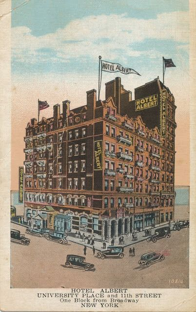 Hotel Albert, New York | The Daily Postcard: Hotel Albert-New York