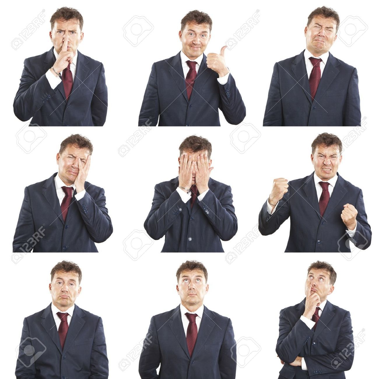 business man - expressions