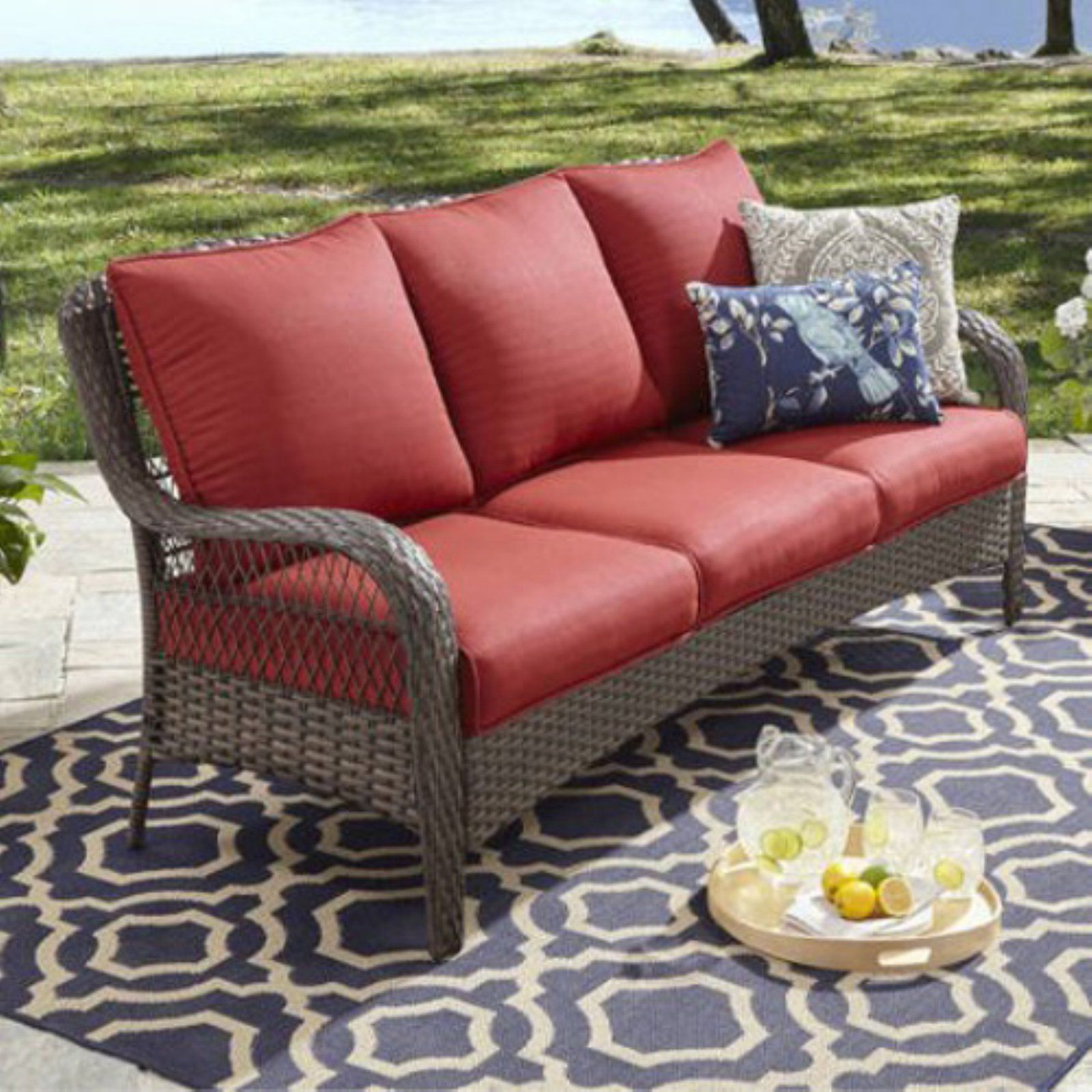 Marvelous Better Homes Gardens Colebrook Outdoor Sofa Red Products Pdpeps Interior Chair Design Pdpepsorg