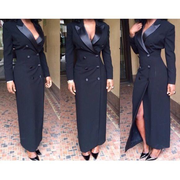 Tuxedo Maxi Dress