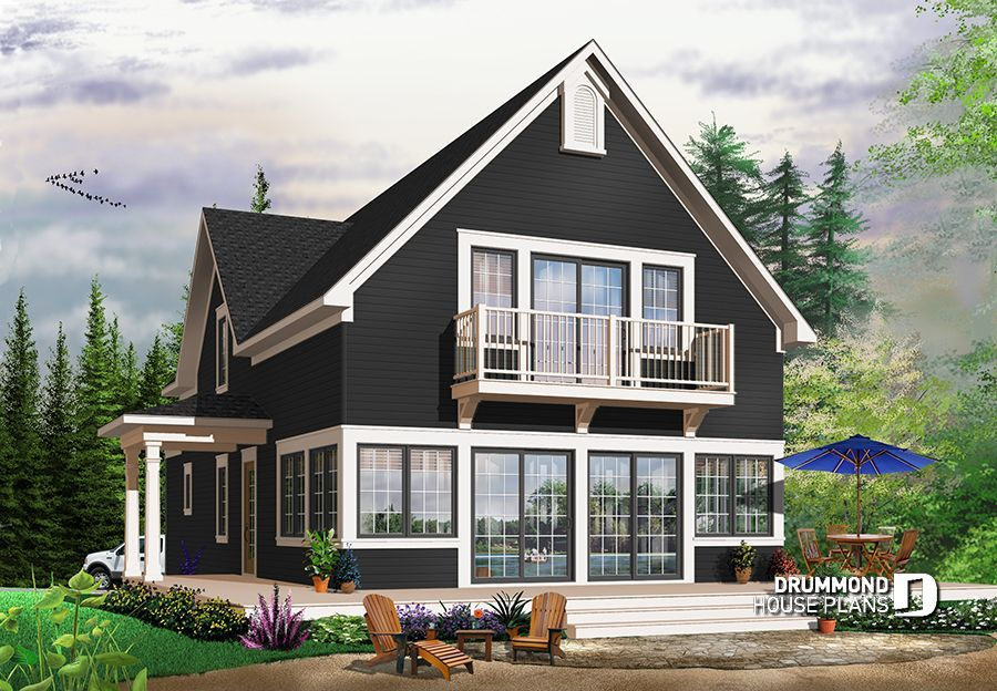 Scandinavian style country cottage plan, master on main ... on homes with river view, homes with beach view, homes with panoramic windows, homes with city view, homes with country view, homes with sky view, homes with best view, homes with breathtaking view, homes with sea view, homes waterfront, homes with beautiful view, homes with lake view,