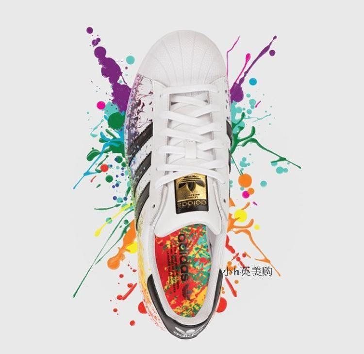 adidas superstar pride pack splash-ink rainbow