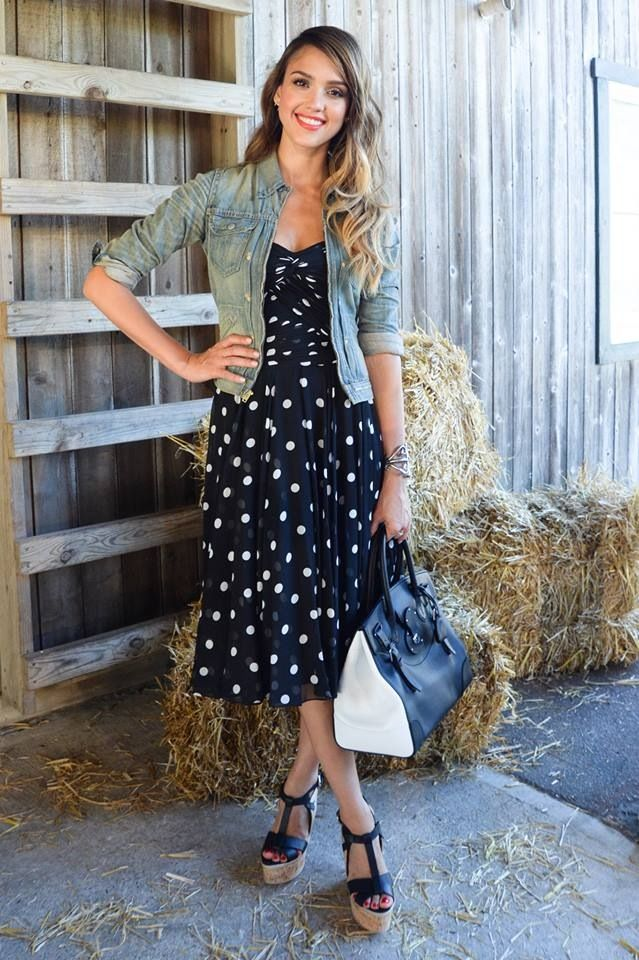 Denim Jacket over dress | street style | Pinterest | Denim jackets ...