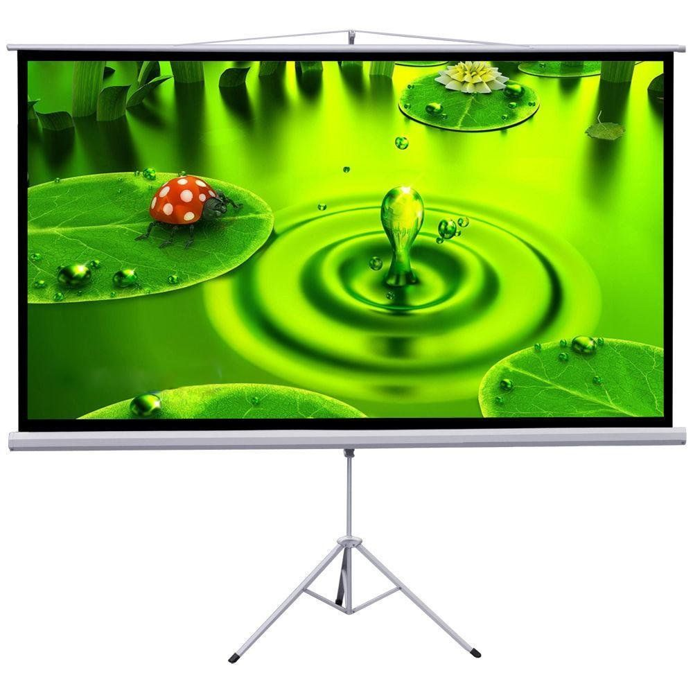 Gotobuy 100 Quot Projector 16 9 Projection Screen Manual Pull Down Screen With Tripod Projection Screen Pull Down Projector Screen Outdoor Projector Screens