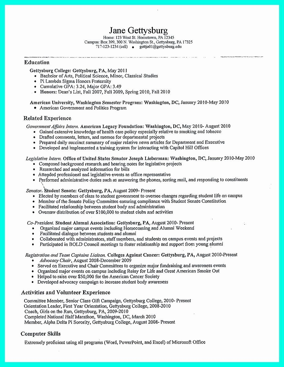 Basic Student Resume Templates Beautiful Best College
