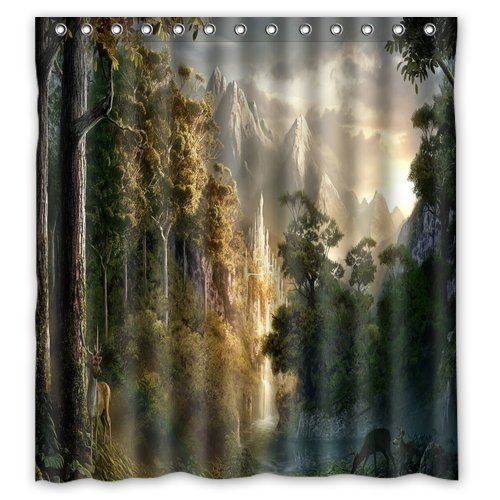 Scottshop Custom Lord Of The Rings Landscape Shower Curtain High