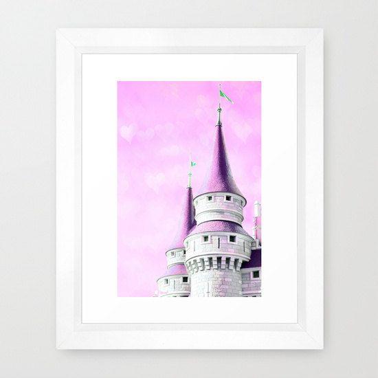 princess castle pink castle nursery art by peppermintcreekphoto