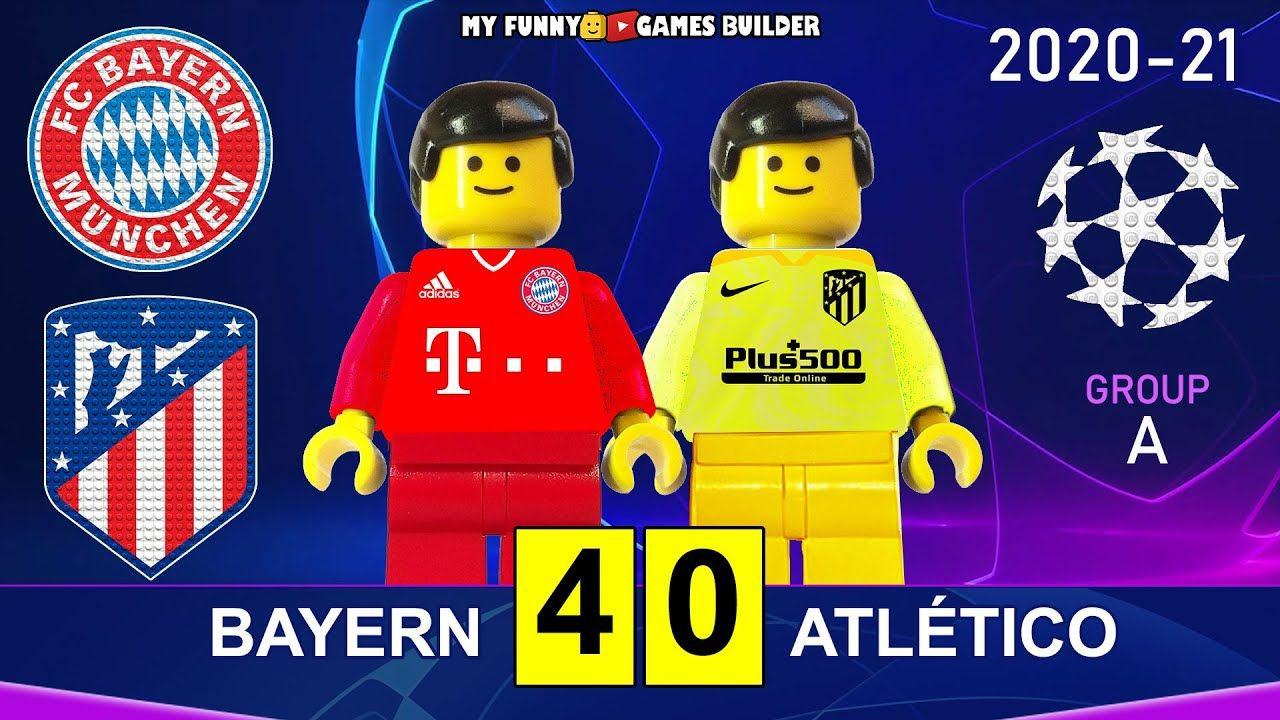 Bayern Vs Atletico Madrid 4 0 Champions League 20 21 In Lego All Goals Highlights Lego Football Lego Football Bayern Champions League