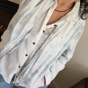 American Eagle Outfitters Jackets & Blazers - American Eagle Outfitters Denim Blue Bomer Jacket