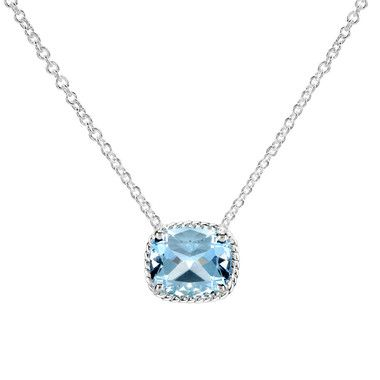 65406c37f9e49f Birks Collection, Blue Topaz Pendant Necklace, in Sterling Silver ...