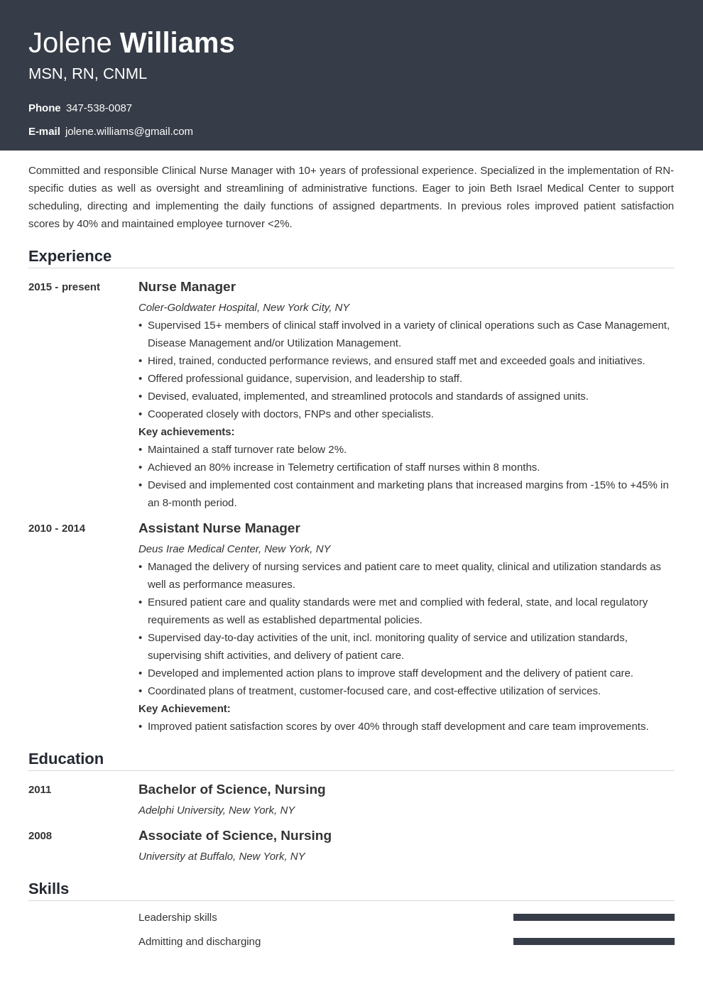 Nurse Manager Resume Example Template Influx Manager Resume Resume Examples Nurse Manager