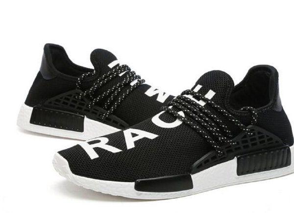 0a5d090df Adidas X Pharrell Williams NMD HU Human Race new Black   White Athlete  Running Shoes