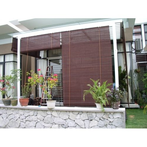Bamboo Window Shades Great Addition To A Pergola Protect Your