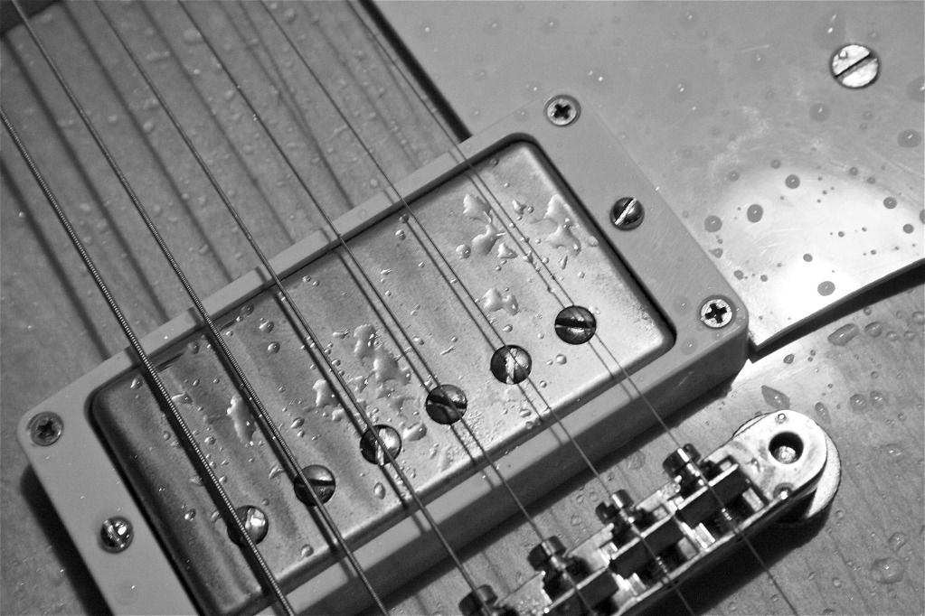 wet Gibson, crying Les Paul