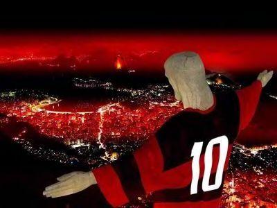 74483cec0dcb2 Cristo Redentor vestindo com a camisa do Flamengo-Rio.