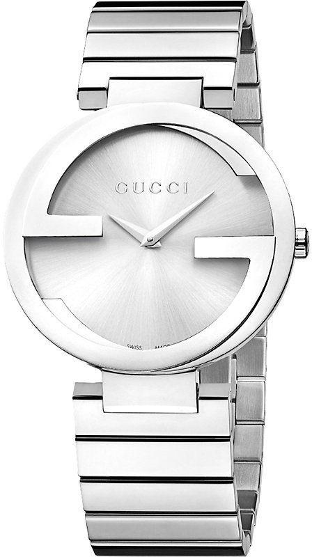 3b201cefc0a Gucci YA133308 Interlocking-G Collection stainless steel watch ...